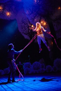 Nick Hendrix as Digby and Rosalie Craig as Althea in the National Theatre's The Light Princess