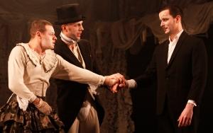 Richard Frame (Hermia), Thomas Padden (Theseus) & Sam Swainsbury (Demetrius)