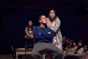 Our Town 1-715 Laura Elsworthy, David Walmsley and Jessica Lester by Marc Brenner