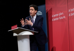 Ed Miliband speaking at the Creative Industries Federation at Battersea Arts Centre (Credit: Ian Watts)
