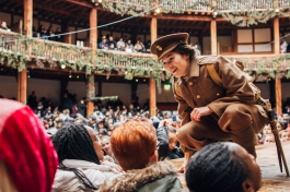 London, 26th February 2015: Othello at Shakespeare's Globe, directed by Bill Buckhurst, as part of Globe Education's Playing Shakespeare with Deutsche Bank 2015