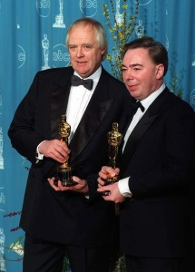 Rice and Lloyd Webber with their Academy Awards