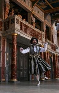 Patron Mark Rylance onstage at Shakespeare's Globe