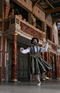 Patron Mark Rylance onstage at Shakespeare's Globe